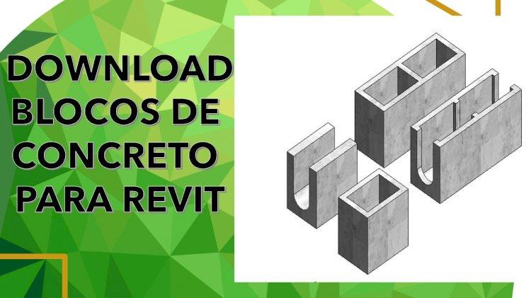 Download blocos de concreto Revit