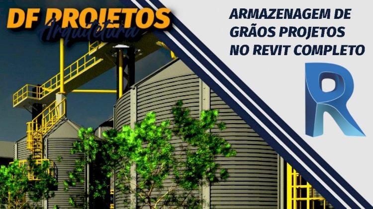 Familias silo secador projeto para Revit